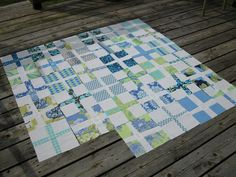 I want to make a cross quilt