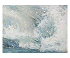 """Dekoracja ścienna """"Waves"""", 120 x 4 x 90 cm"""