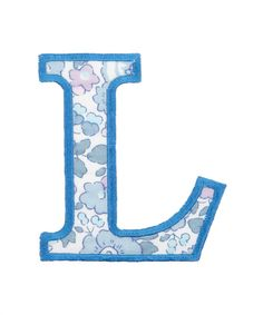Blue Betsy Liberty Print Letter
