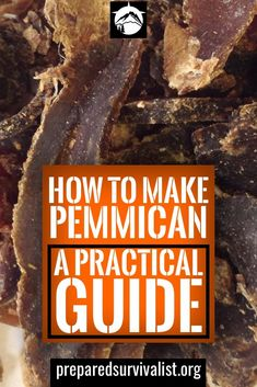 How To Make Pemmican - This post has step by step instructions on how to make pemmican. Pemmican is made from dried meat. You can add many extra ingredients like nuts. Survival Food Kits, Emergency Food Supply, Emergency Supplies, Urban Survival, Survival Prepping, Survival Skills, Survival Hacks, 400 Calorie Meals, Earthquake Kits