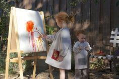 his & hers art smocks from Little Things to Sew  (Oliver + S)