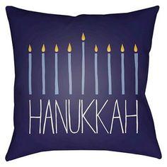 Menorah Throw Pillow - Surya Mon Cheri, Accent Pillows, Throw Pillows, T Home, Pillow Fight, Festival Lights, Menorah, Winter Time, Home Accents