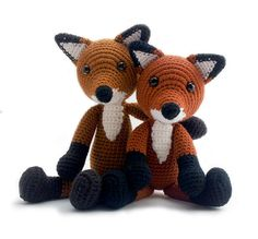 Haakpatroon Vos amigurumi directe download door YukiYarnDesigns