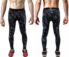 2016 Men Compression Pants Casual Tights Camouflage
