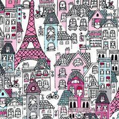 Brejer Mon Amie City Pink [RK-13778-96] - $10.45 : Pink Chalk Fabrics is your online source for modern quilting cottons and sewing patterns., Cloth, Pattern + Tool for Modern Sewists