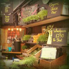 Juice bar and Wheatgrass bar at Borough Market