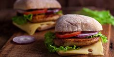 Chicken Ciabatta Sandwiches with Homemade Chicken Patties