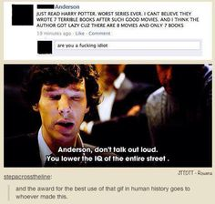 Harry Potter and Sherlock crossover - I'm actually worried about some people when they stuff like that :L