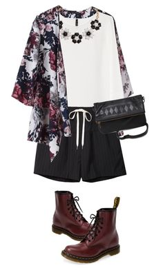 """""""Untitled #883"""" by littledeath11 ❤ liked on Polyvore featuring MANGO, Humble Chic, Alexander Wang, Dr. Martens and With Love From CA"""