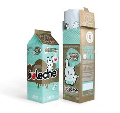 Kawaii Milk Packaging