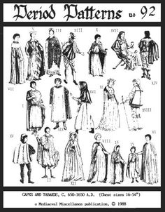 PP92  Capes and Tabards. C. 6501650 Pattern by patternsoftime