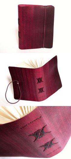 sketchbook com capa em recouro e encadernação artesanal, Luisa Gomes Cardoso para o Canteiro de Alfaces.
