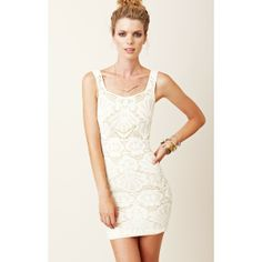 Free People Seamless Medallion Lace Dress (2.365 RUB) found on Polyvore