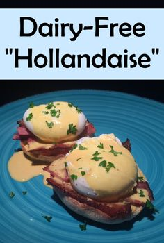 """A super quick and easy dairy-free """"hollandaise"""" recipe! Finally a casein conscious way to enjoy eggs benedict! Dairy Free Sauces, Dairy Free Diet, Dairy Free Eggs, Lactose Free, Dairy Free Hollandaise, Recipe For Hollandaise Sauce, Chimichurri, Mayonnaise, Sauce Carbonara"""