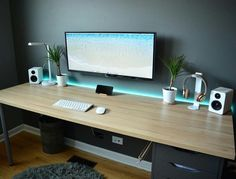 setup office room ~ setup office - setup office workspace - setup office desk - setup office ideas - setup office room - home office setup - office setup ideas layout - home office setup small spaces Mesa Home Office, Home Office Setup, Home Office Desks, Office Ideas, Office Workspace, Office Style, Bureau Design, Design Desk, Layout Design