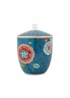 PiP Studio - 'Spring to Life' Collection - Medium Storage Jar, Blue
