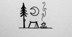 @david_rollyn   Art   Pinterest   Minimalist Tattoos, Camping and Camps