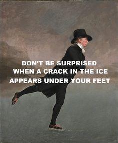 pinkfloydart:  The Thin Ice - Pink Floyd / The Skating Minister - Henry Raeburn