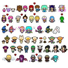 Added a few more champs with variations  #leagueoflegends #digital #fanart #pixelart #pixel