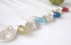 Spring Wedding Jewelry, Bridesmaid Gift Set of 4  by cocowagner, $100.00