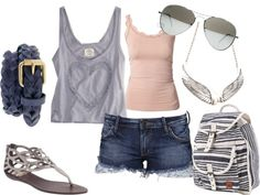 Summer Day Downtown, created by tfox91 on Polyvore