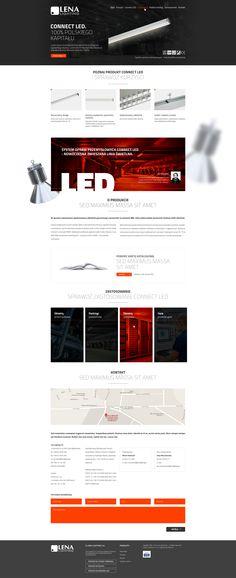 Lena Lighting Landing Page Webdesign #webdesign #web #design #piotr #wolniewicz #portfolio #inspiration #landing #page #corporate