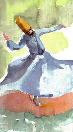 Whirling Dervish Painting