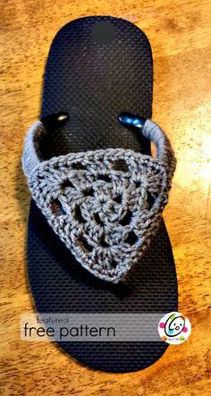 flip flop free crochet pattern ༺✿ƬⱤღ https://www.pinterest.com/teretegui/✿༻