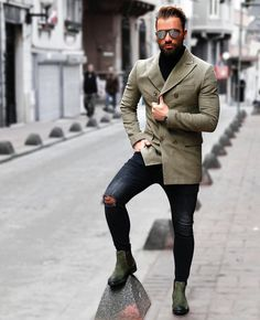nice 40 Ways to Style Casual Boots for Men - Inspirational Ideas for You Check more at http://stylemann.com/best-ways-to-style-casual-boots-for-men/