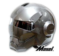 Masei Gray Atomic-Man 610 Open Face Motorcycle Iron-Man Honda Kawasaki Suzuki Helmet for Harley Davidson