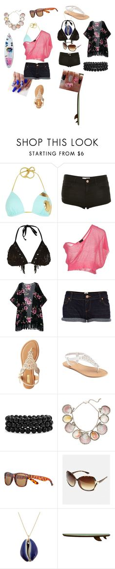 """Surf"" by dominiquej817 ❤ liked on Polyvore featuring Pacha, Topshop, Crash & Burn, Gotha, River Island, Qupid, SONOMA Goods for Life, Bling Jewelry, Paolo Costagli and John Lewis"