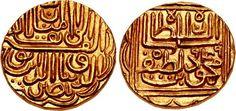 CNG: eAuction 366. ISLAMIC SULTANATES, Gujarat. Nasir al-Din Mahmud Shah III. AH 944-961 / AD 1537-1553. AV Tanka (20mm, 12.01 g, 2h). Uncertain (Muhammadabad [?]) mint. Dated AH 949 (AD 1542/3).