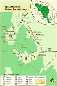 Spring Mountain National Recreation Area Las Vegas Nv United States A Map