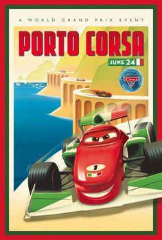 Pixar Cars 2: Francesco Bernoulli in Porta Corsa by Eric Tan