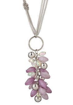 Lavender Multi cluster pendant necklace