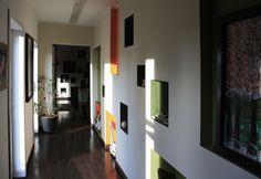 OPERASTUDIO - Project - Private villa #Lisanza #Italian style green white orange #corridor