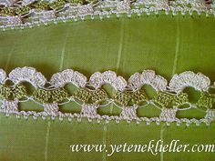 deyişik iki güzel oya modeli Crochet Edging Patterns, Crochet Borders, Crochet Motif, Crochet Lace, Needle Tatting, Tatting Lace, Point Lace, Lace Embroidery, Lace Tape