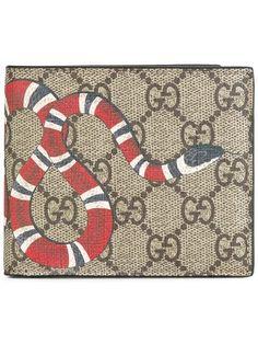 Gucci GG Supreme snake wallet