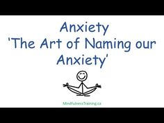 Anxiety Management - Naming Our Anxiety - Jack Kornfield (instructions) - YouTube