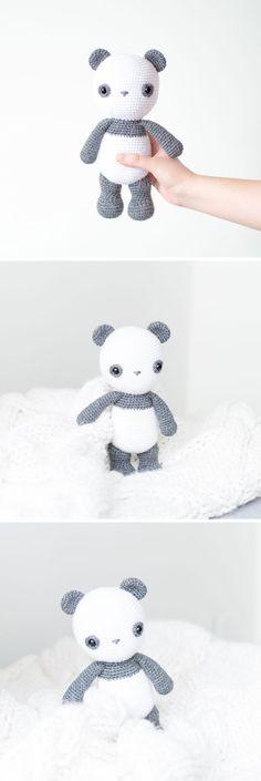 Crochet Pattern - Bobby the Lovely Panda - Amigurumi Half Double Crochet, Single Crochet, Cute Panda, Yarn Needle, Stitch Markers, Slip Stitch, Just Giving, Pattern Making, Pet Toys
