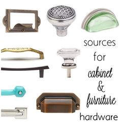sources for cabinet & furniture hardware