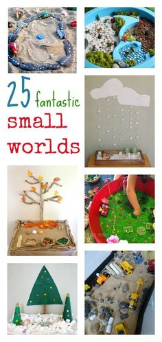25 small world pretend play activities Sensory Activities, Sensory Play, Preschool Activities, Sensory Bins, Stages Of Baby Development, Small World Play, Pretend Play, Role Play, Toddler Fun