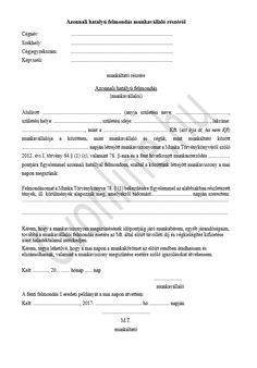 Azonnali hatályú felmondás | Minta nyomtatvánnyal | Cvonline.hu Personalized Items