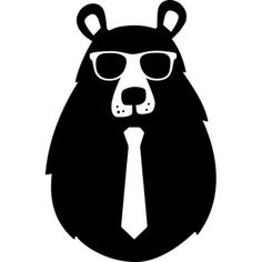 Silhouette Design Store: hipster bear