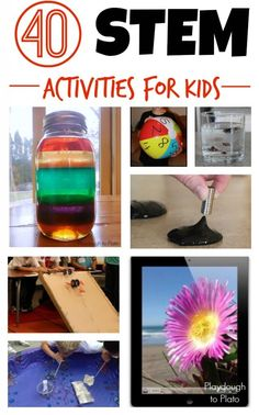 Check out these 40 STEM activities for kids! Share a pic of your kid-scientist!