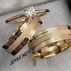 Hermosas Joyas para boda fabricadas en oro italiano ley 750 Law, Jewels