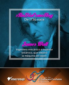 #UnDíaComoHoy 19 de enero pero de 1736 nace James Watt, ingeniero mecánico e inventor británico, que mejoró la máquina de vapor.