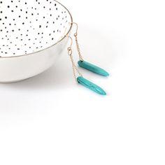 Harper. Turquoise Spike Earrings. Bridesmaid Earrings. Gift for Her. Bachelor Britt Earrings. Native American. Hipster Earrings.