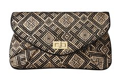 Mossimo Large Clutch in Black Natural, $16.99, available February 12 at Target.