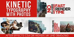 Kinetic Typography With Photos  • After Effects Template • See it in action ➝ https://videohive.net/item/kinetic-typography-with-photos/14100867?ref=pxcr